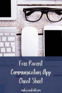 Posting Ideas for Parent Communication Apps Cheat Sheet
