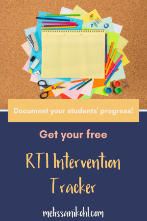 Grab your free RTI Intervention Tracker!