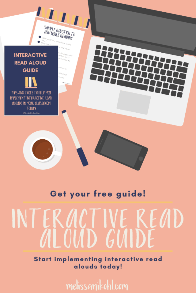 Free Interactive Read Aloud Guide Do you need help planning your read alouds? Are you having trouble creating questions. Use this free guide to plan out your read alouds week by week! #readaloud #readalouds #interactivereadaloud