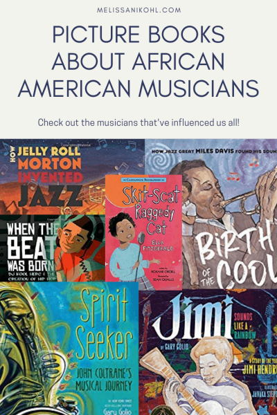 PICTURE BOOKS ABOUT AFRICAN AMERICAN Musicians.This is a great collection of children's books that celebrate African American contributions in music. #musicpicturebooks #blackhistorymonth #diversebooksforchildren