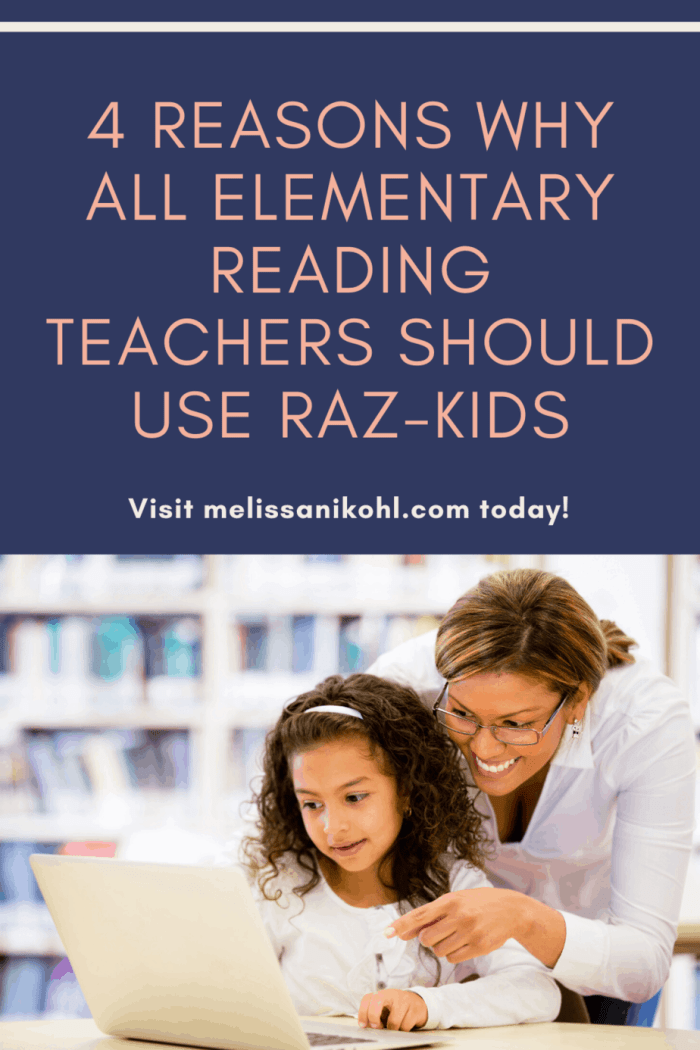 Are you using Raz-Kids in your classroom? Did you know it is an easy way to differentiate your reading block? Learn why all elementary teachers should use Raz-Kids in their classrooms today! #razkids #differentiation #differentiatedcenters #teachertips #teacherresources