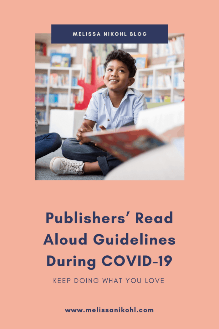 Publishers' Read Aloud Guidelines During COVID-19. Teachers, Librarians, and other Educators, you don't have to stop doing read alouds for your students during this crazy time! Publishers are giving us temporary permission to keep reading to our students. This post contains some publishers who have given permission and their policy. #keepreading #readaloud #readalouds