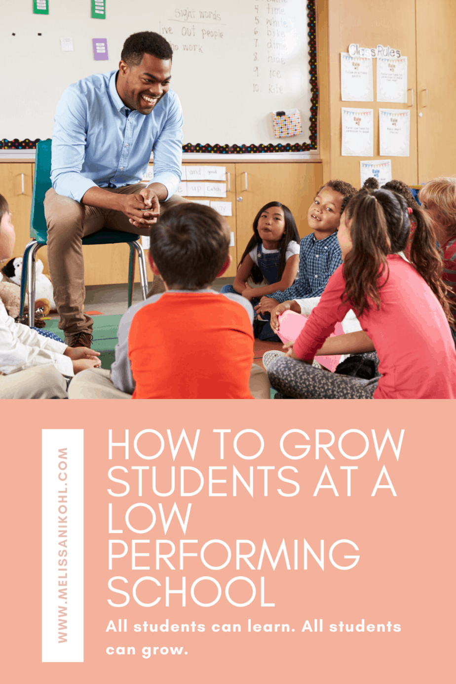 Student growth is possible with all students. Even at campuses that are struggling. Find out how to help students grow at a school that isn't doing so well. Remember, all students can learn. #studentgrowth #differentiation