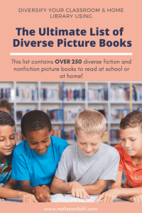 Are you looking for diverse picture books to add to your classroom or home library? Do you want to add diverse picture books to your collection, but you don't have time to search for them? Are you a teacher that wants to use more diverse texts but are unsure how they will fit in with your units or curriculum? If you answered yes to any of these questions, then you need this list! #diversepicturebooks #diverseclassroomlibraries #diversebooksforkids