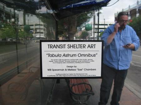 "©2013 Melissa ""Sasi"" Chambers and Will Spearman - ""Tabula Astrum Omnibus"" - bus shelter in Boise, Idaho"