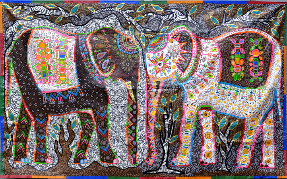 ©2016 Melissa 'Sasi' Chambers - Elephants in the Room - tarpestry