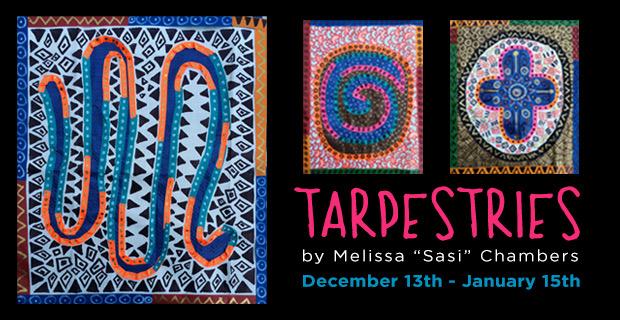 "Postcard for ""Tarpestries"" -- Sasi's Solo Exhibition at Boise State University"