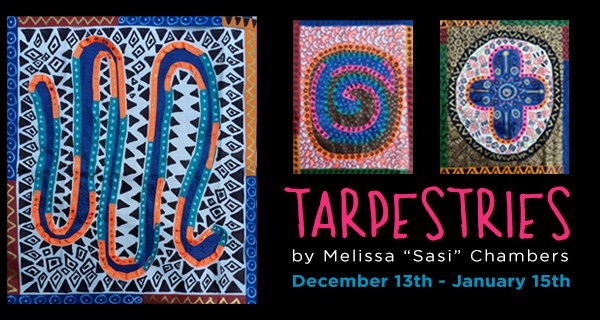 "Postcard for ""Tarpestries"" -- Sasi's Solo Exhibition at Boise State University"