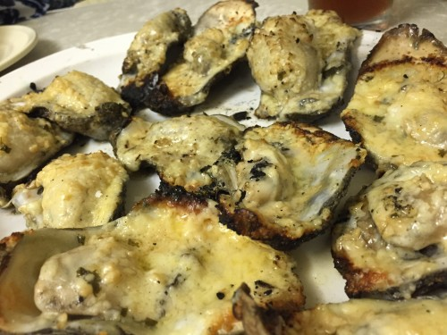 Char grilled oysters at Casamentos