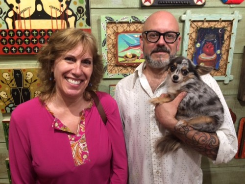 "Melissa ""Sasi"" Chambers, Gabe Shaffer and Boo, at Red Truck Gallery in New Orleans"