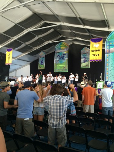 Glen David Andrews and the Treme Choir at Jazz Fest 2016