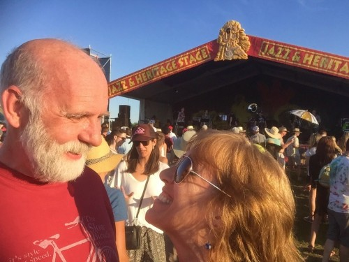 Mike and Melissa at Jazz Fest 2016