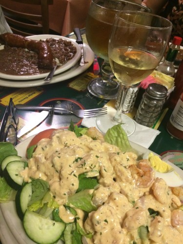 Red beans and Shrimp remoulade at Liuzza's