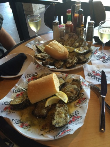 Char grilled oysters at Drago's