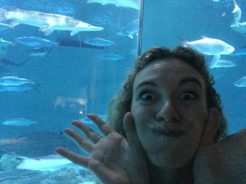 Lina at the Audubon Aquarium