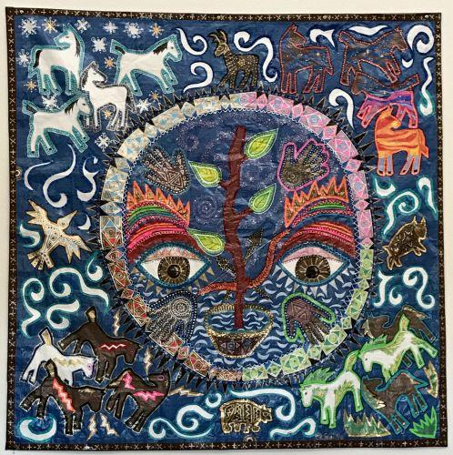 "©2017 Melissa ""Sasi"" Chambers - ""Great Circle of Life"" Black Elk tarpage 1/2017"
