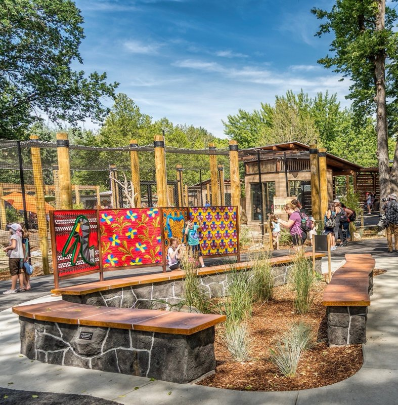 "Melissa ""Sasi"" Chambers, public art work for Zoo Boise's permanent Gorongosa exhibit"