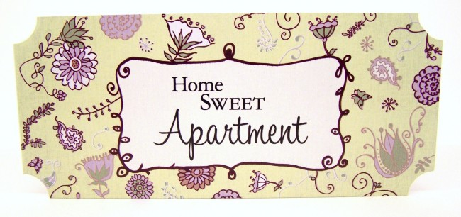 Mini Wall Plaque Home Sweet Apartment