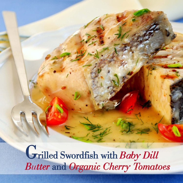 Grilled fish fillet