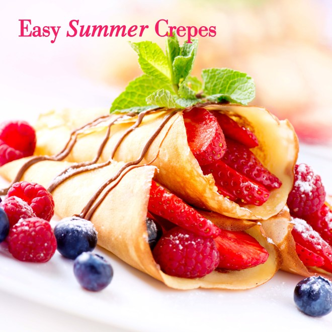 Crepes With Berries. Crepe with Strawberry, Raspberry, Blueberry