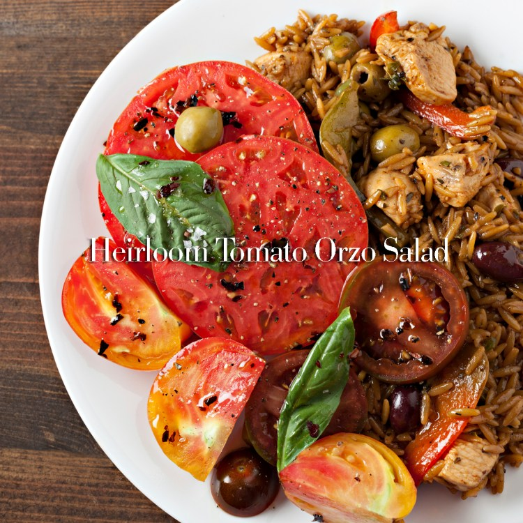 Greek Oregano Chicken With Orzo And A Tomato Salad