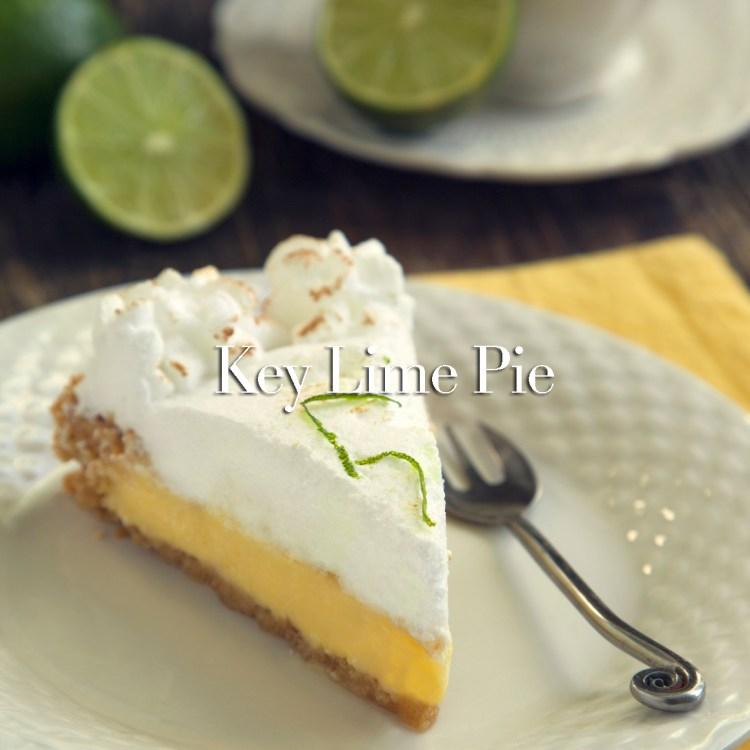 Piece of key lime pie