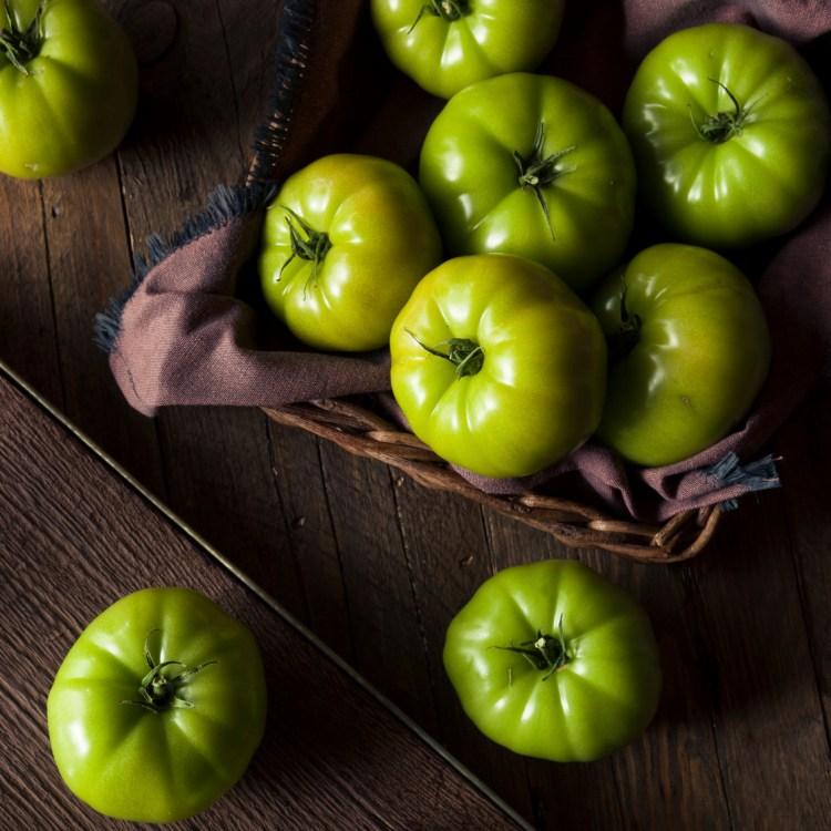 Raw Organic Green Tomatoes