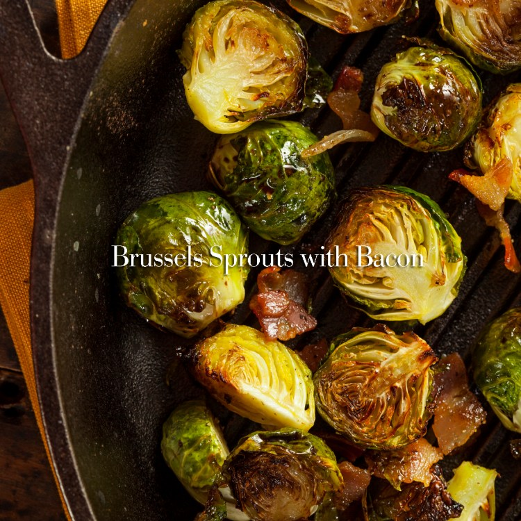 Homemade grilled Brussels sprouts