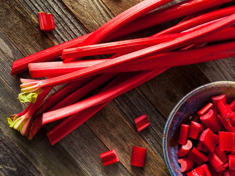 Raw Organic Red Rhubarb