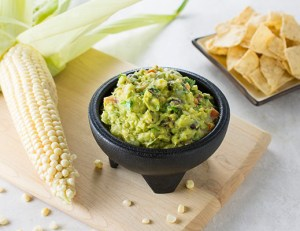 corn and bean guacamole