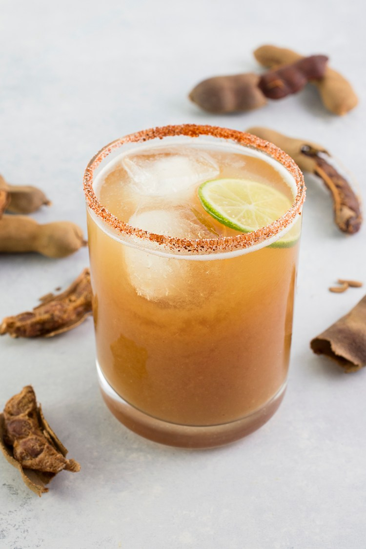 Glass of tamarindo juice