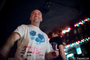 John Klaiber dancing at The Lower 48/Honyock show. Torch Club. Sacramento CA. Photo Melissa Uroff