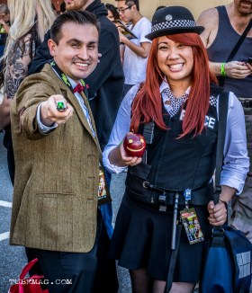 Doctor Who and his companion Amy Pond Cosplayers