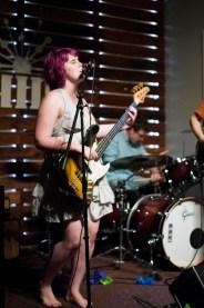 Lead singer, Emma Simpson, of band Embryo playing at Shine in Sacramento CA. 2015. Photo Emma Montalbano.