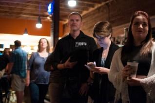 Spectators enjoying a drink and the show at Shine in Sacramento CA. 2015. Photo Emma Montalbano.