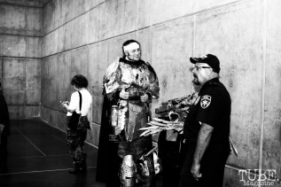 Really tall cosplayer. Sacramento Wizard World Comic Con 2015. Photo Sarah Elliott