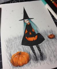 Pumpkin Dress by Naisa Gomez.