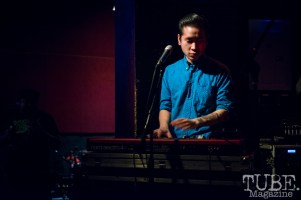 Minh Quan of the Scratch Outs performing at the Blue Lamp. Sacramento CA. January 9 2016. Photo Melissa Uroff