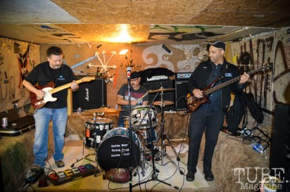 Crossing the River playing at the Ground Chuck Benefit show held at Casa de Chaos on January 9, 2016. Photo Vi Mayugba.
