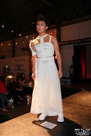 Model at Fashion on Film for Hill Tribe designers, Beatnik Studios, Sacramento, CA.February 24,2016. Photo Anouk Nexus