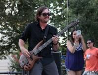 Arden Park Roots bassist, Spencer Murphy, Concerts in the Park, Cesar Chavez Park, Sacramento, CA. June 24, 2016. Photo: Anouk Nexus