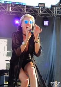 Vocalist Sarah Barthel of Phantogram, City of Trees, Bonney Field, Sacramento, CA. September 10, 2016. Photo Anouk Nexus