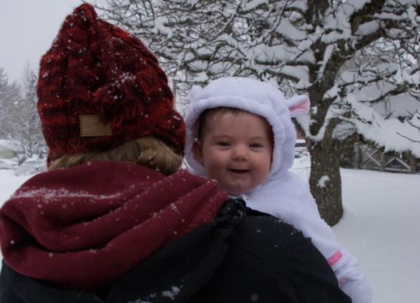 Riley's First Snow Day!