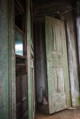 Doors on old train car at Camp 18