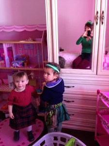 Meredith Fraser & Anastasia at Emma's St. Patrick's Day party
