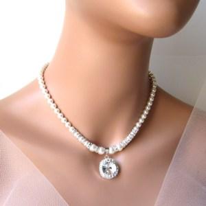 Pearl & Rhinestone Necklace