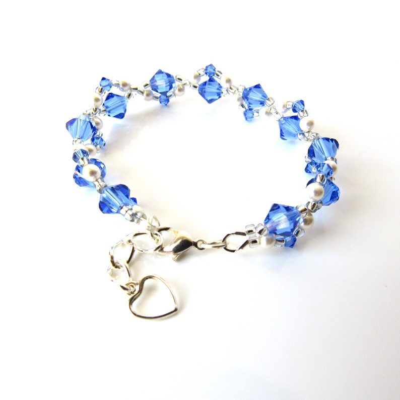 sapphire and pearl bracelet