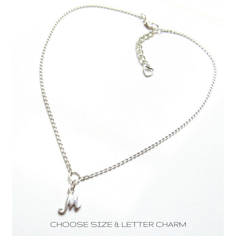 PERSONALIZED silver choker necklace