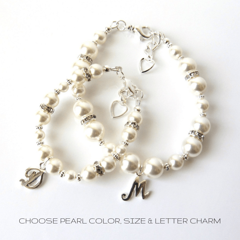 Personalized mother daughter bracelets