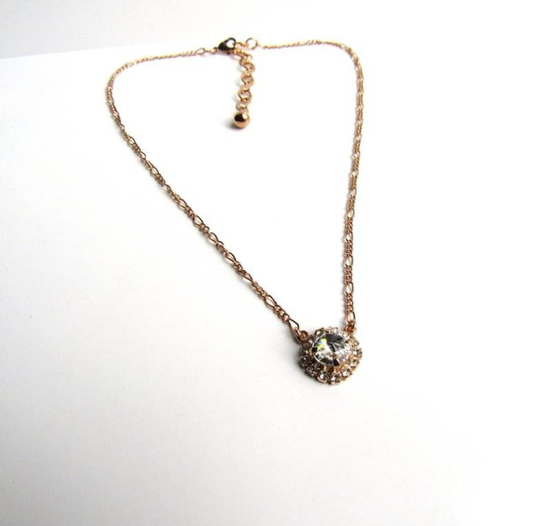 GN14-Girls-rose-gold-necklace-with-swarovski-crystal-pendant